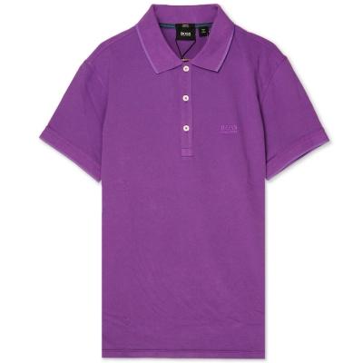 HUGO BOSS 黑標素面POLO男衫(紫)