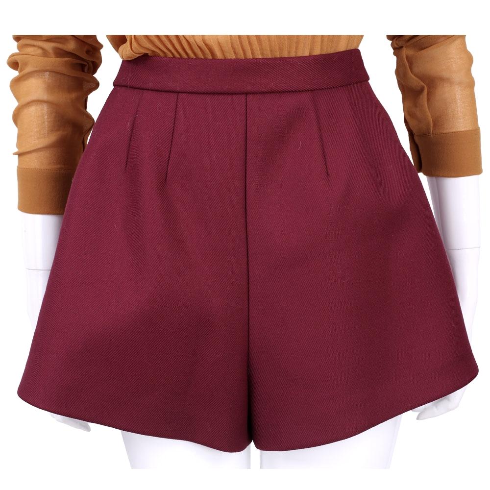 RED VALENTINO 紅色寬管短褲