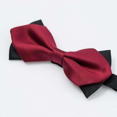 per-pcs 雙層黑配紅蝴蠂結領結_黑紅(001-111)