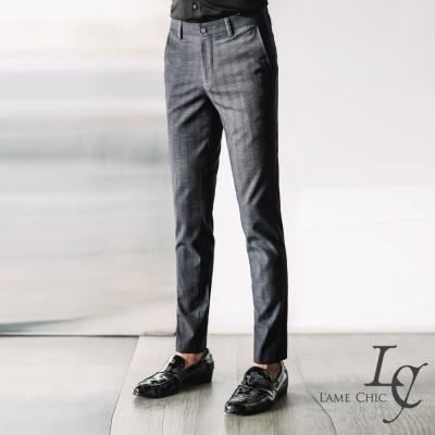 L-AME-CHIC-英式直壓紋袖口橫條設計彈性修