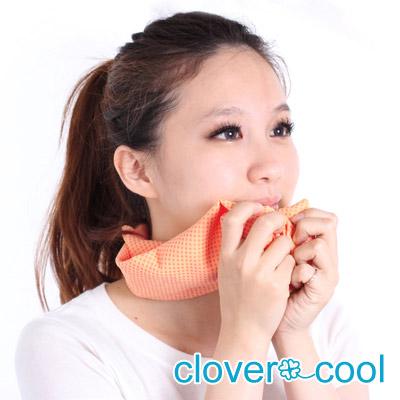 Clover瞬間涼感多用途冰涼巾(小領巾)-柳橙橘