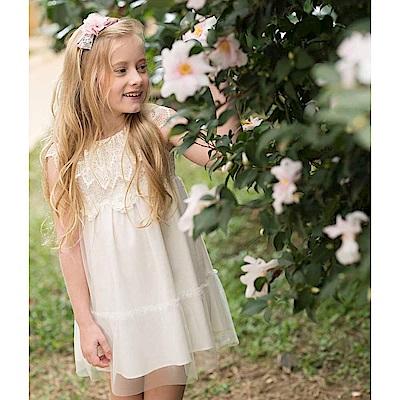 PIPPY 蕾絲小花童洋裝 米