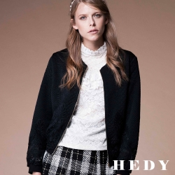 Hedy赫蒂 鏤空蕾絲壓紋短版外套(共二色)