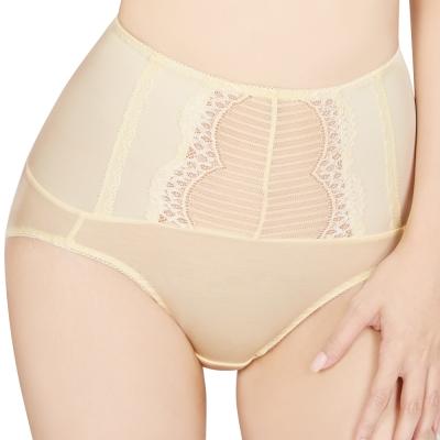 思薇爾 撩波系列M-XXL高腰三角修飾褲(淺黃色)
