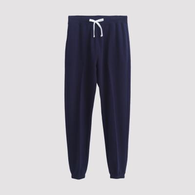 Hang Ten - 男裝 - 運動潮流素面直筒棉褲 - 藍