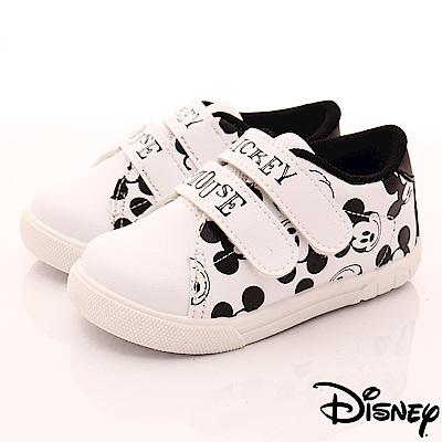 迪士尼童鞋 米奇印花雙絆帶休閒鞋款-ON18301白黑(中小童段)
