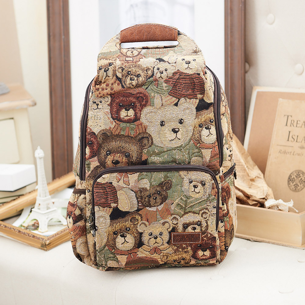 【DAV DANNY 大衛丹尼】經典系列-可愛小熊手提後背包-856