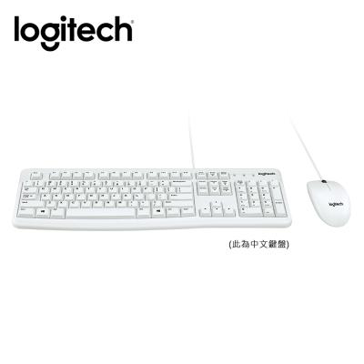 羅技 有線滑鼠鍵盤組 MK120-白