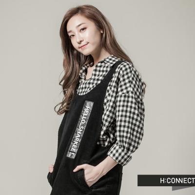 H-CONNECT-韓國品牌-女裝-SHARKEE-字牌吊帶背心洋裝-黑