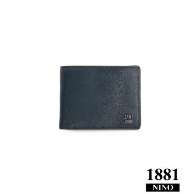 Nino1881 – 真男人十字紋零錢包短夾 - 藍