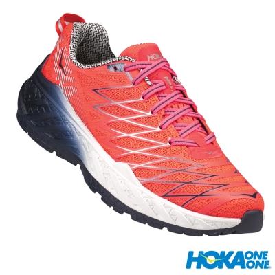 HOKA ONE ONE 跑鞋 Clayton 2 輕量競速 女 螢光珊瑚紅
