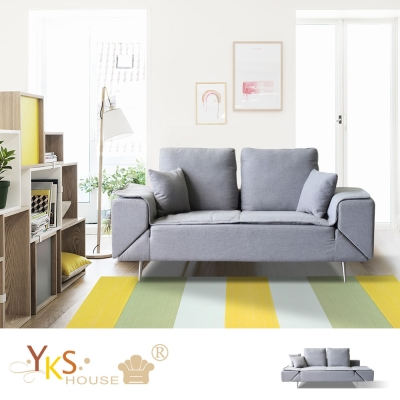 YKS-沐亞機能布沙發/ 沙發床-獨立筒版
