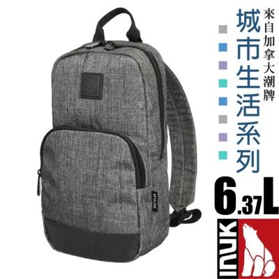 【加拿大 INUK】城市生活 熱賣款 潮牌超輕便多口袋單肩側背包6.3L_埃菲爾灰