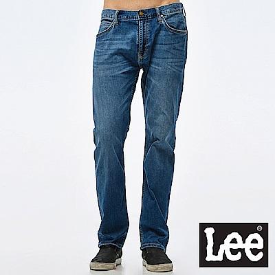 Lee 牛仔褲 724中腰標準小直筒牛仔褲- 男款-中深藍