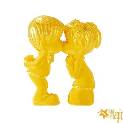 【Magic魔法金】結婚親嘴( 0.3錢) 賀囍立體黃金 (木盒精裝)