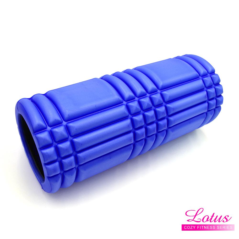 瑜珈柱 EVA瑜珈滾筒 按摩滾筒-LOTUS-藍色