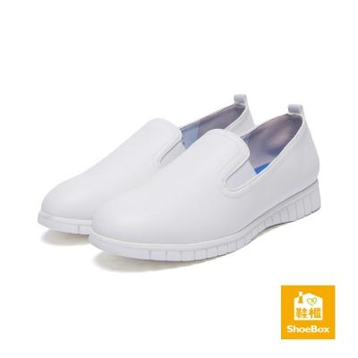 達芙妮DAPHNE-ShoeBox系列-懶人鞋-舒軟氣墊素面平底鞋-白8H