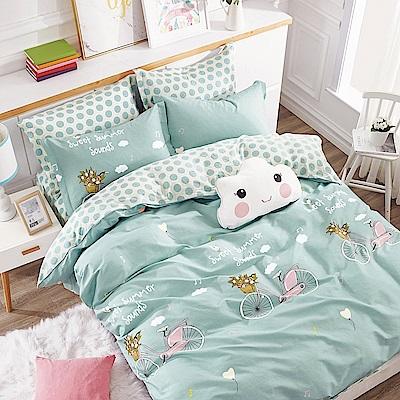 Ania Casa伊尚單車 單人兩件式 100%精梳棉 台灣製 床包枕套純棉兩件組