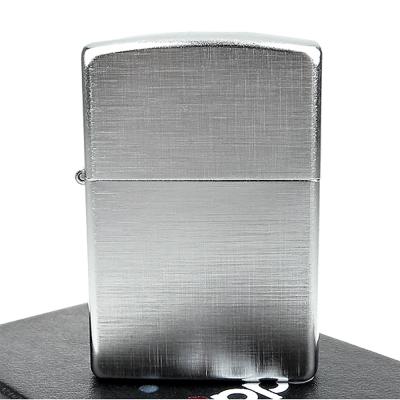 ZIPPO美系-Linen Weave-亞麻織紋拉絲刷紋鍍鉻打火機
