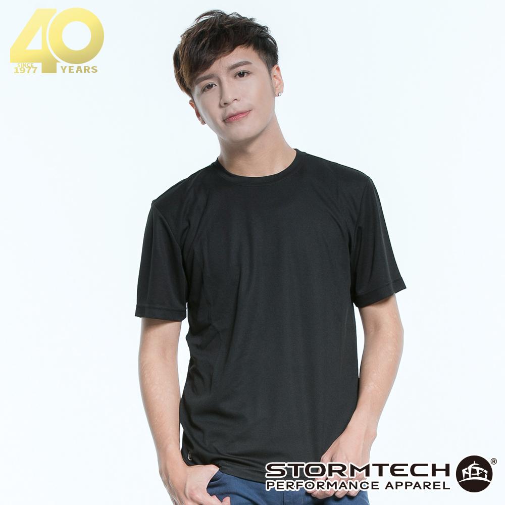 【加拿大STORMTECH】PGT-1吸濕排汗抗UV運動上衣-男-黑