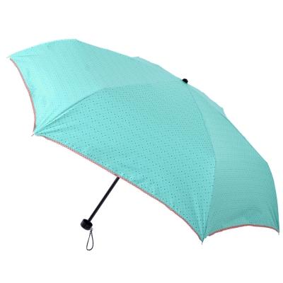 2mm 色膠抗UV 彩點花邊輕量手開傘 (藍綠)
