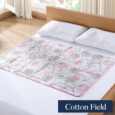 棉花田 雪之宿 花卉低反發冷凝床墊-桃花粉(90x145cm)