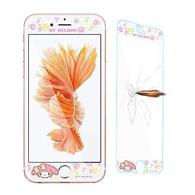 三麗鷗 iPhone 8 / 7 /6s Plus 全隱形玻璃保護貼(碎花美樂蒂...