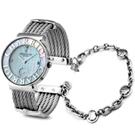 CHARRIOL NEW夏利豪扇形珍珠貝可拆式鎖鍊錶-30mm