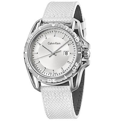 CK CALVIN KLEIN Earth 寰宇系列白色面盤手錶-44mm