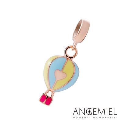 Angemiel安婕米串珠 925純銀吊飾 愛心熱氣球