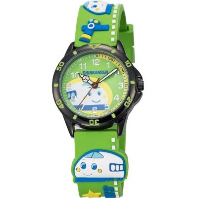 HELLO KITTY 新幹線百變英雄手錶-綠/34mm