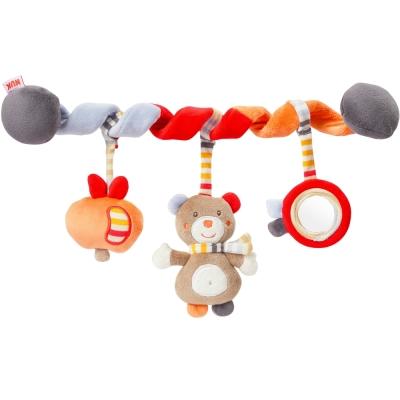 德國NUK絨毛玩具-小熊活動卷卷裝飾組