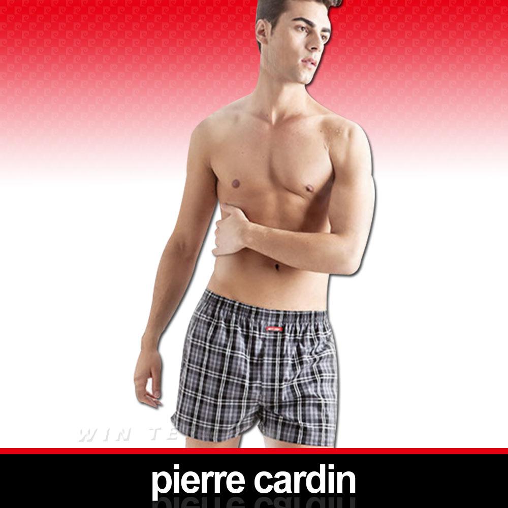 Pierre Cardin 皮爾卡登 色織五片式平口褲-XXL(加大尺碼)100%精梳棉