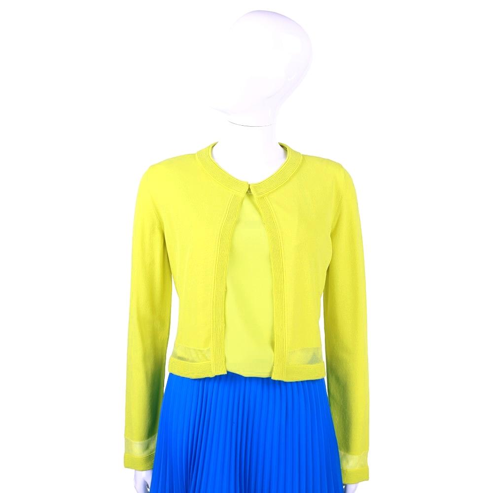 PHILOSOPHY 螢光黃拼接設計小外套