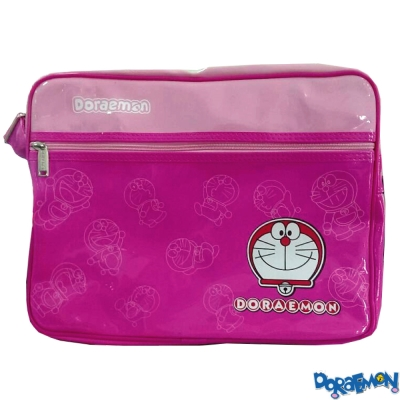 【Doraemon 哆啦A夢】亮面側背包(桃_DO4213)