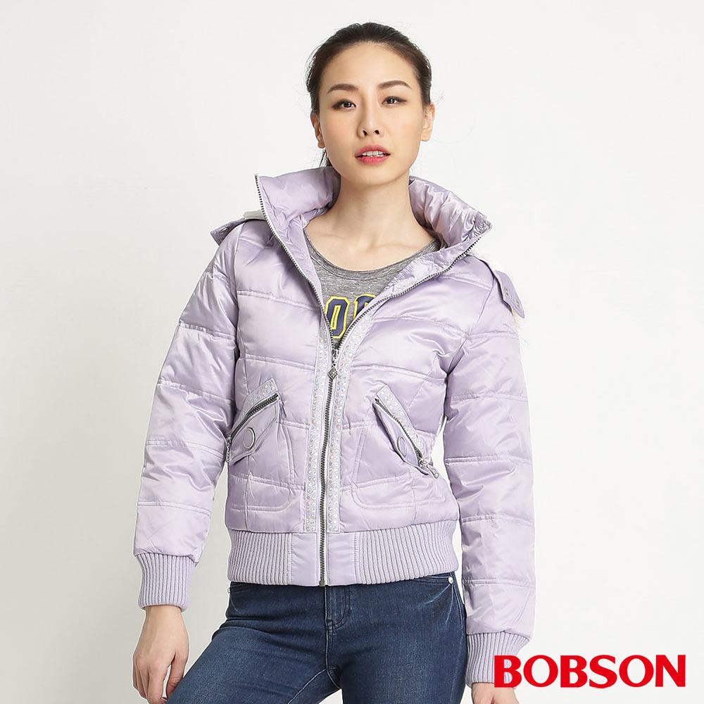 BOBSON女款五彩亮片裝飾羽絨外套