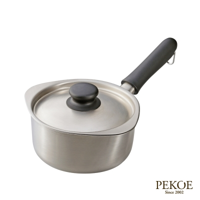 柳宗理不鏽鋼單手鍋-霧面直徑16cm附不鏽鋼蓋