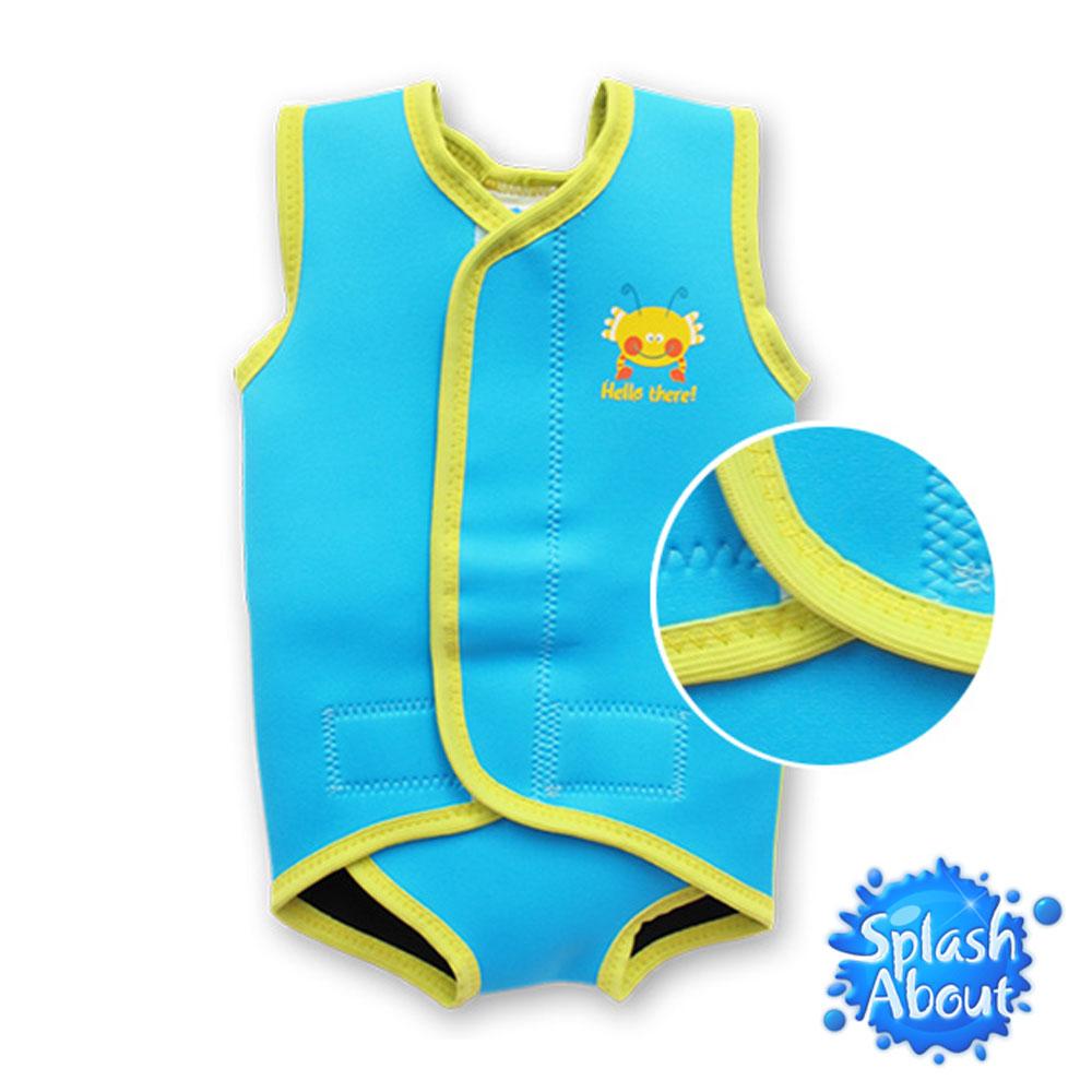 潑寶 Splash About - BabyWrap 包裹式保暖泳衣 -水族剪影/水藍