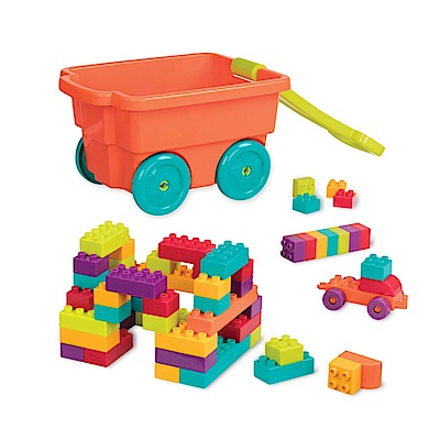B.Toys 樂部落積木拖車_Battat系列(南瓜)