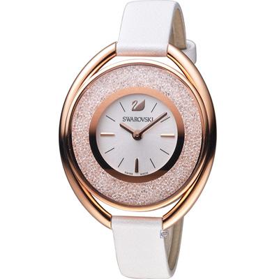 SWAROVSKI Crystalline Oval 璀璨耀眼魅力腕錶-玫瑰金色/37mm