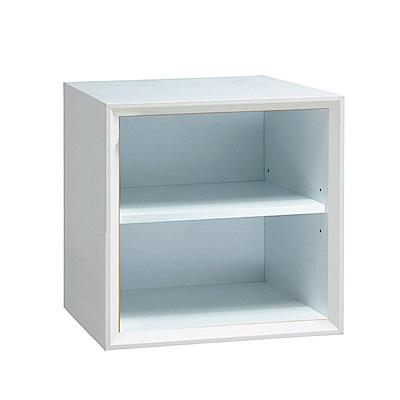 品家居 格吉1.2尺開放式二格收納櫃(三色可選)-36x36x30cm免組