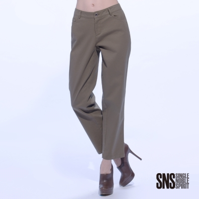 SNS 歐美都會素面質感直筒褲(2色)