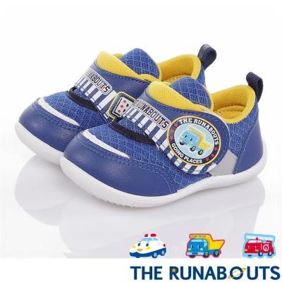 三麗鷗THE RUNABOUTS 透氣抗菌輕量減壓寶寶學步童鞋-藍