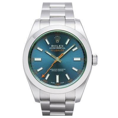ROLEX 勞力士 116400GV Milgauss 新款電光藍綠玻璃/40mm