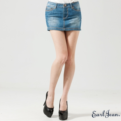 Earl Jean-低腰休閒牛仔短裙