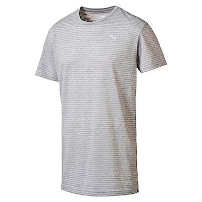PUMA-男性訓練系列印花短袖T恤-淺麻花灰-歐規