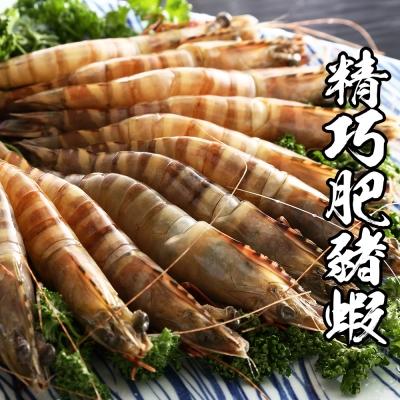 海鮮王 深海精巧肥豬蝦*1盒組 600g±10%/盒 1盒約16隻(任選)