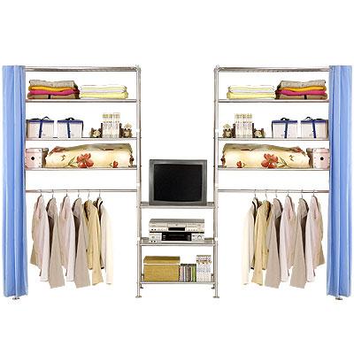 巴塞隆納-W4型90+60+90公分衣櫥置物架