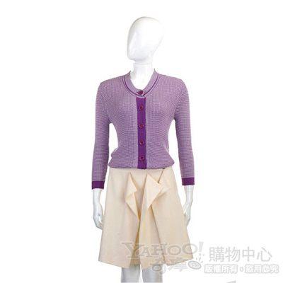 MOSCHINO 米白色抓褶及膝裙