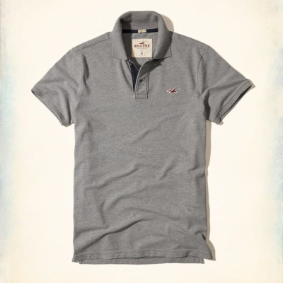 Hollister HCO POLO 灰色 0357